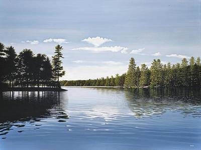 Bay On Lake Muskoka Art Print by Kenneth M  Kirsch