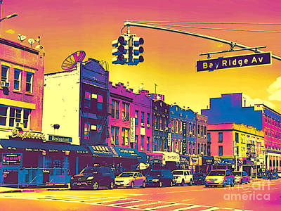 Photograph - Bay Ridge Pop Art by Onedayoneimage Photography