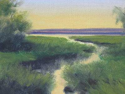 Painting - Bay Road Sunset by David Rodman Johnson