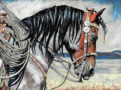 Bay Roan Original by Cat Culpepper