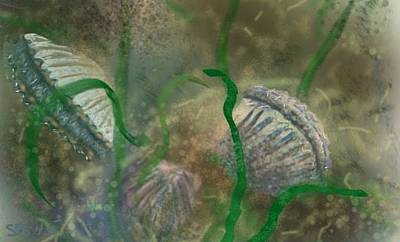 Painting - Bay Scallops by Susan Sarabasha