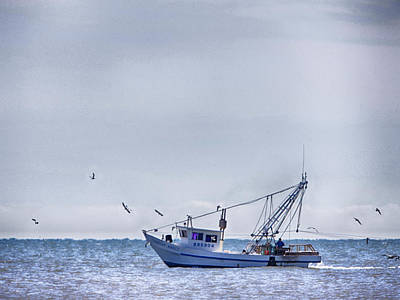 Photograph - Bay Shrimper by Charles McKelroy