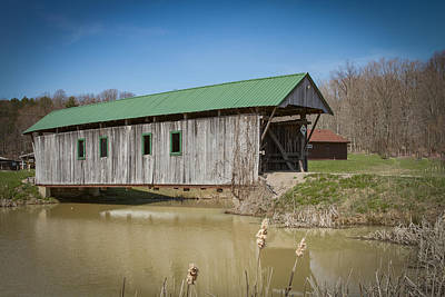 Music Royalty-Free and Rights-Managed Images - Bay/Tinker Covered Bridge  by Jack R Perry