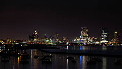 Photograph - Bay View At Night by Randy Scherkenbach