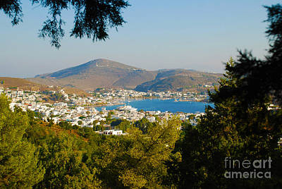 Greek Photograph - Bay View From Platia Lotza - Patmos Island Greece by Just Eclectic