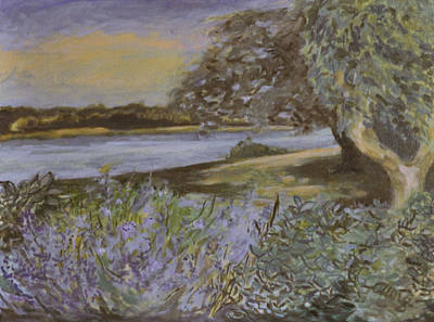 North Fork Painting - Bay View Lavender And Sage by T Aung