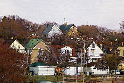 Digital Art - Bay View Neighborhood by David Blank