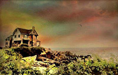 Photograph - Bayberry Cove Cottage by Diana Angstadt