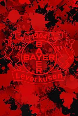 Ball Digital Art - Bayer Leverkusen Colors by Alberto RuiZ