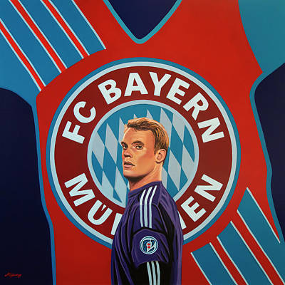 Keeper Painting - Bayern Munchen Painting by Paul Meijering