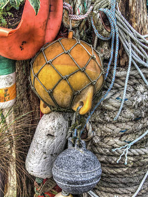 Photograph - Bayfront Buoys And Bumpers by Thom Zehrfeld