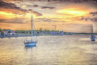 Photograph - Bayfront Sunset by JoeDes Photography