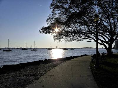 Sky Photograph - Bayfront Walkway by Ric Schafer