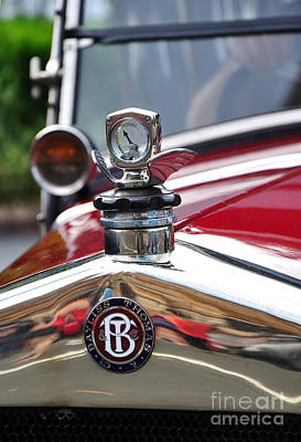 Photograph - Bayliss Thomas Badge And Hood Ornament by Kaye Menner
