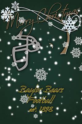 Baylor Photograph - Baylor Bears Christmas Card 2 by Joe Hamilton
