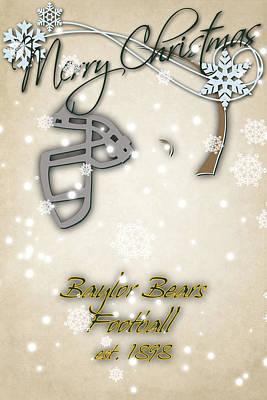 Baylor Photograph - Baylor Bears Christmas Card by Joe Hamilton