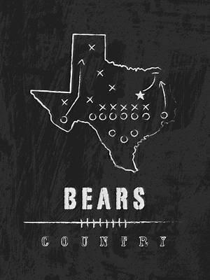 Baylor Bears / Ncaa College Football Art / Waco Texas Art Print by Damon Gray