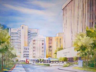 Painting - Baylor Hospital by Liana Yarckin