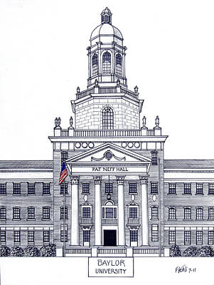 Drawing - Baylor University by Frederic Kohli
