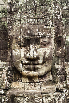 Photograph - Bayon Face 01 by Rick Piper Photography