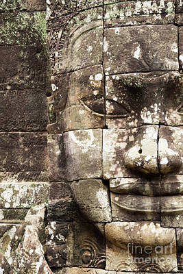 Photograph - Bayon Face 02 by Rick Piper Photography