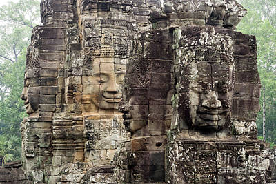 Photograph - Bayon Faces 03 by Rick Piper Photography