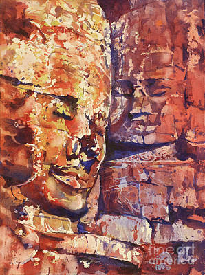 Painting - Bayon Smiles by Ryan Fox