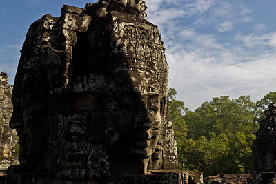 Photograph - Bayon Temple, Siem Reap by Alex Leonard
