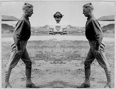 Bayonet Digital Art - Bayonet Fighting Instruction by KJ DePace