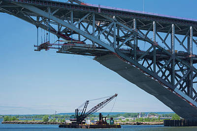 Photograph - Bayonne Bridge Raising 2 by Kenneth Cole