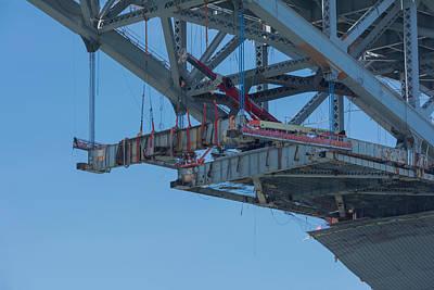 Photograph - Bayonne Bridge Raising 4 by Kenneth Cole