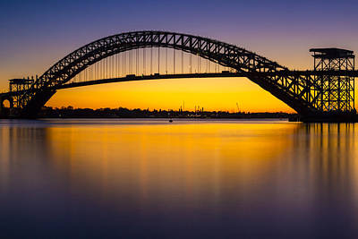 Photograph - Bayonne Bridge Sundown by Susan Candelario