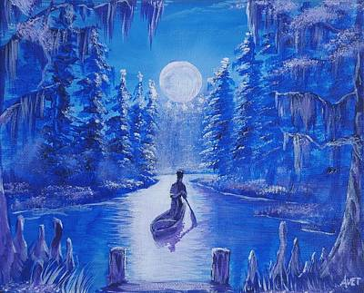 Cypress Swamp Painting - Bayou Blood by Nicolas Avet
