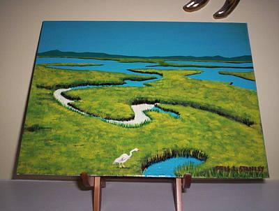Painting - Bayou Breakfast by Otis L Stanley