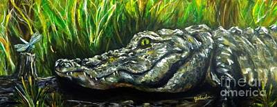 Cypress Swamp Painting - Bayou Buddies by JoAnn Wheeler