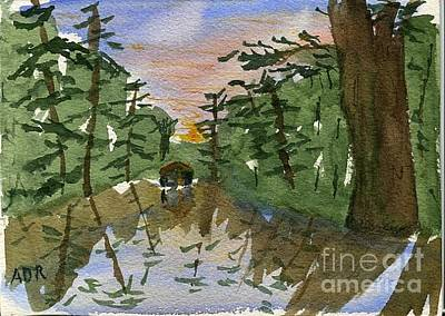 Painting - Bayou Camp by Andrea Rubinstein