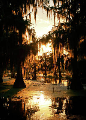 Photograph - Bayou Fire by Nicholas Blackwell