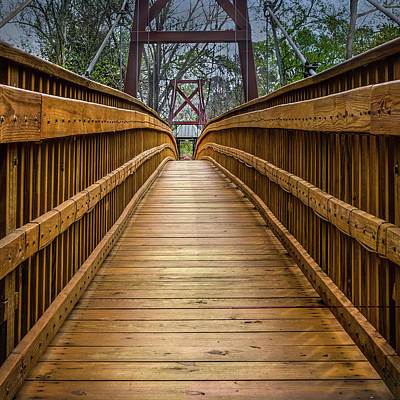 Photograph - Bayou Foot Bridge by James Woody