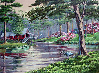 Painting - Bayou Living by CB Hume