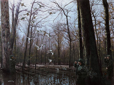 Painting - Bayou Meto Morning by Glenn Pollard