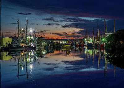 Photograph - Bayou Reflections At Dusk #2 by Brad Boland