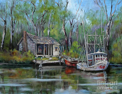 Louisiana Painting - Bayou Shrimper by Dianne Parks