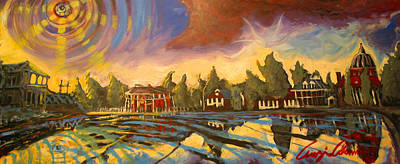 Art Print featuring the painting Bayou St John New Orleans by Amzie Adams