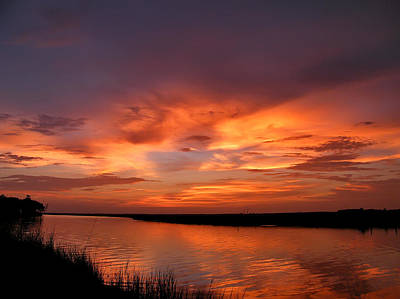 Bayou Sunset Art Print by Brian Wright