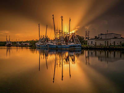 Photograph - Bayou Sunset Glory by Brad Boland