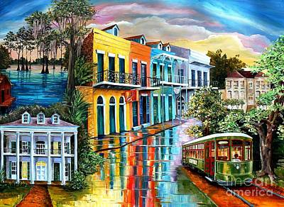 Bayou To The Big Easy Original by Diane Millsap