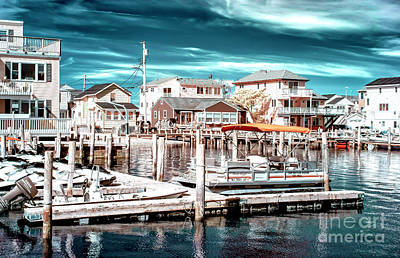 Photograph - Bayside Neighborhood At Long Beach Island Infrared by John Rizzuto