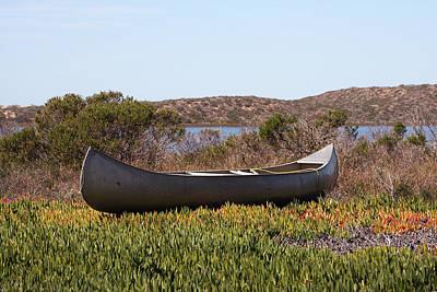 Morro Bay Ca Photograph - Baywood Park Canoe by Art Block Collections