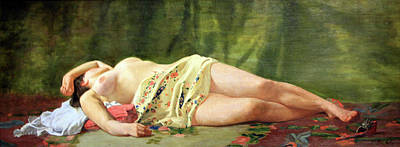 Photograph - Bazille's Reclining Nude Or Nude Study by Cora Wandel