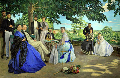 Photograph - Bazille's The Family Gathering by Cora Wandel
